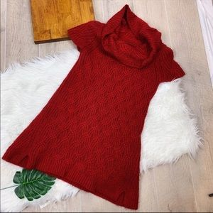 Worthington Red Short Sleeve Cowlneck Dress M2270